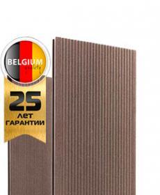 Террасная доска дпк полнотелая TWINSON MASSIVE 9360 (Бельгия) цвет 503 орехово-коричневый